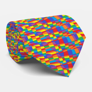 Stained Glass Abstract Tie