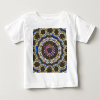 Stained Glass And masonary In A Mandala Pattern Baby T-Shirt