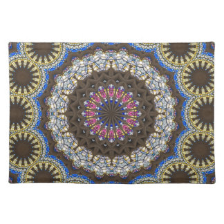 Stained Glass And masonary In A Mandala Pattern Place Mats