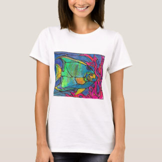 Stained Glass Angel Fish T-Shirt