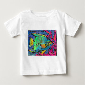 Stained Glass Angel Fish Tee Shirt