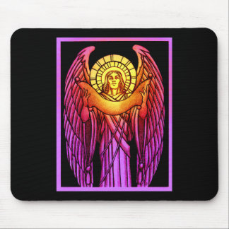 Stained Glass Angel Mousepad