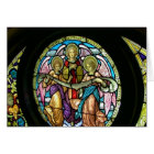 Stained Glass Angels II--Card (Blank Inside) Card