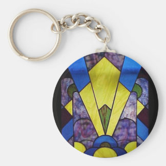 Stained Glass_Art Deco Key Chain