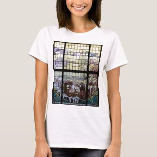Stained Glass Art Nouveau Sea Scene T-Shirt