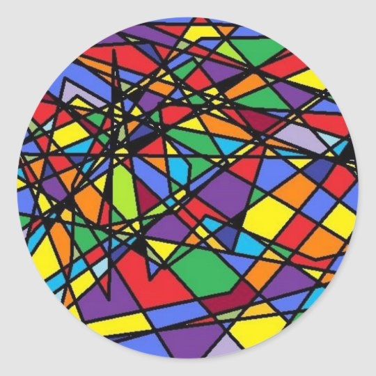 Stained Glass Art Shattered Window Classic Round Sticker