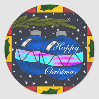 Stained glass baubles stickers