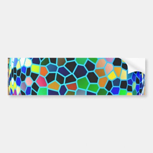 Stained Glass Blue : Artistic Signature Graphics Bumper Stickers