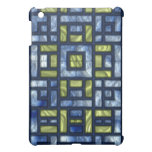 STAINED GLASS BLUE & GREEN CASE FOR THE iPad MINI