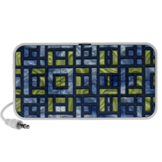 STAINED GLASS BLUE & GREEN Doodle Speaker