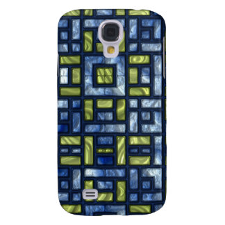 STAINED GLASS BLUE & GREEN GALAXY S4 CASE
