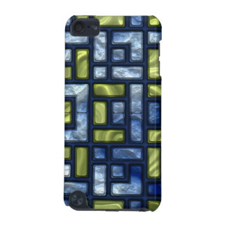 STAINED GLASS BLUE & GREEN iPod Touch Speck Case