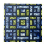 STAINED GLASS BLUE & GREEN Tile