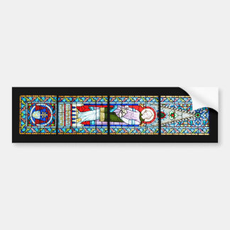 stained glass budapest religion cathedral Matthias Bumper Sticker