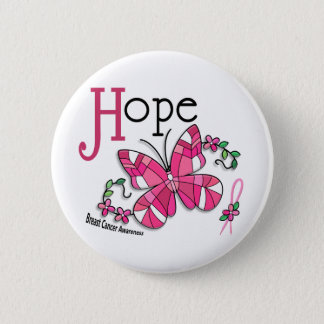 Stained Glass Butterfly 1 Breast Cancer 6 Cm Round Badge