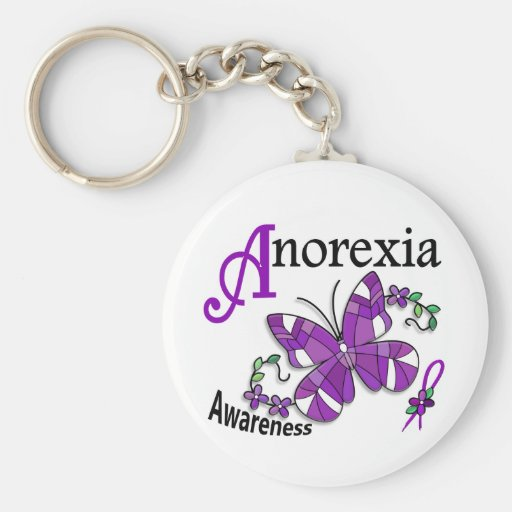 Stained Glass Butterfly 2 Anorexia Keychains