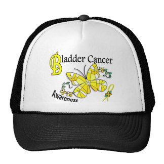 Stained Glass Butterfly 2 Bladder Cancer Trucker Hat