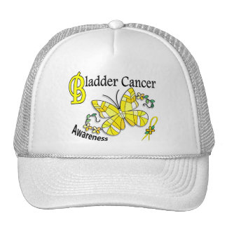 Stained Glass Butterfly 2 Bladder Cancer Mesh Hats