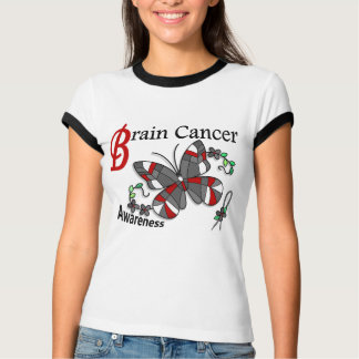 Stained Glass Butterfly 2 Brain Cancer Tee Shirts