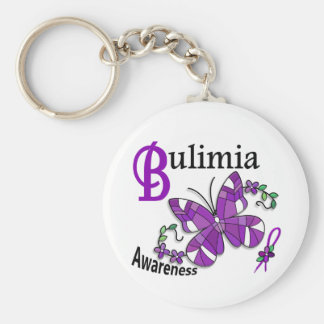 Stained Glass Butterfly 2 Bulimia Key Chains