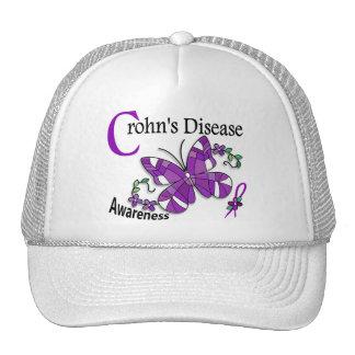 Stained Glass Butterfly 2 Crohn's Disease Trucker Hat