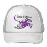 Stained Glass Butterfly 2 Cystic Fibrosis Trucker Hats