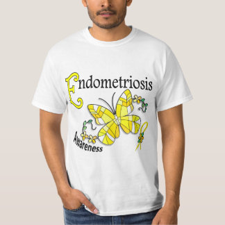 Stained Glass Butterfly 2 Endometriosis Shirts