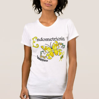 Stained Glass Butterfly 2 Endometriosis Tee Shirt