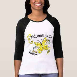 Stained Glass Butterfly 2 Endometriosis Tshirts