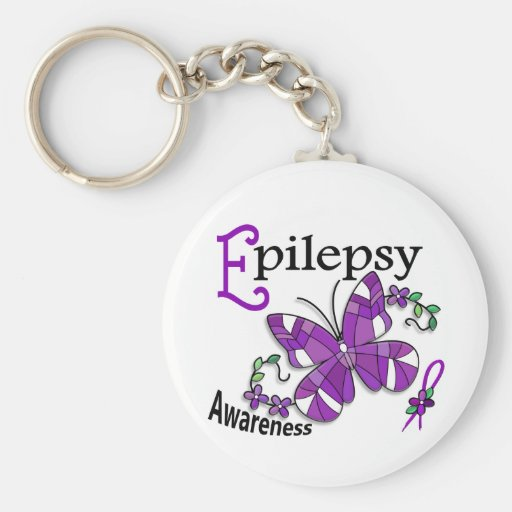 Stained Glass Butterfly 2 Epilepsy Key Chains