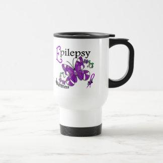 Stained Glass Butterfly 2 Epilepsy Travel Mug