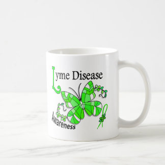 Stained Glass Butterfly 2 Lyme Disease Classic White Coffee Mug