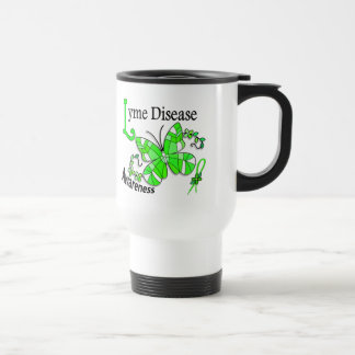 Stained Glass Butterfly 2 Lyme Disease 15 Oz Stainless Steel Travel Mug