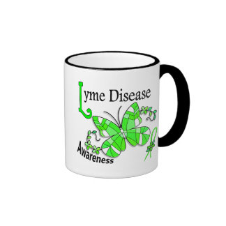Stained Glass Butterfly 2 Lyme Disease Ringer Mug