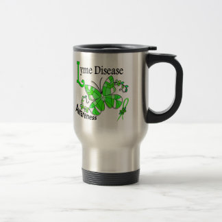 Stained Glass Butterfly 2 Lyme Disease Stainless Steel Travel Mug