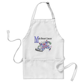 Stained Glass Butterfly 2 Male Breast Cancer Standard Apron