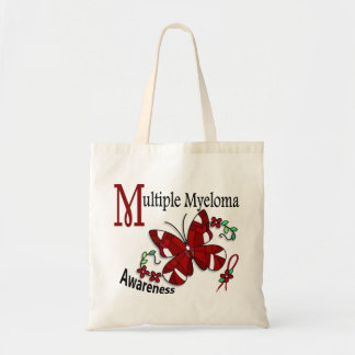 Stained Glass Butterfly 2 Multiple Myeloma Budget Tote Bag