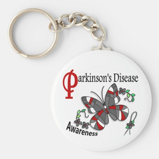 Stained Glass Butterfly 2 Parkinsons Key Chains