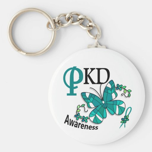 Stained Glass Butterfly 2 PKD Keychain