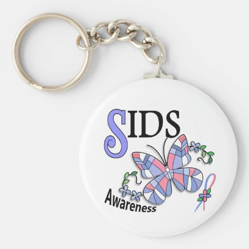 Stained Glass Butterfly 2 SIDS Keychain