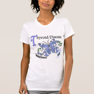 Stained Glass Butterfly 2 Thyroid Disease Tshirt