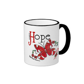 Stained Glass Butterfly Blood Cancer Ringer Mug