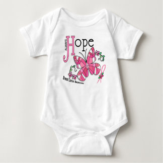 Stained Glass Butterfly Breast Cancer Baby Bodysuit