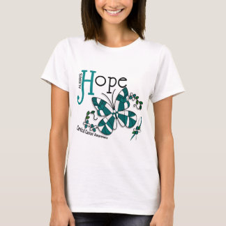 Stained Glass Butterfly Cervical Cancer T-Shirt