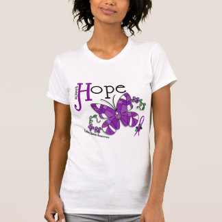 Stained Glass Butterfly Crohn's Disease T-shirts