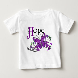 Stained Glass Butterfly Cystic Fibrosis Baby T-Shirt