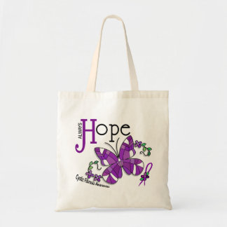 Stained Glass Butterfly Cystic Fibrosis Budget Tote Bag