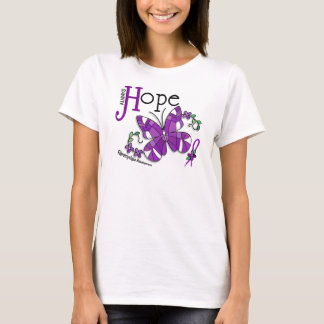 Stained Glass Butterfly Fibromyalgia T-Shirt