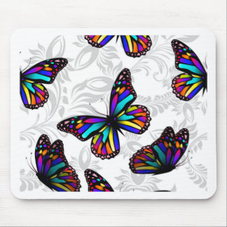 Stained Glass Butterfly & Foliage Mouse Pad