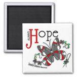 Stained Glass Butterfly Juvenile Diabetes Square Magnet